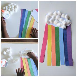 cotton ball rainbow