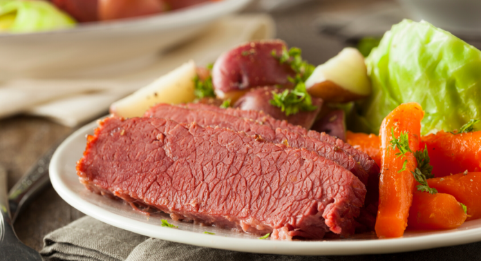 corned beef on st. patrick's day