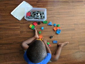 LEGO building activity