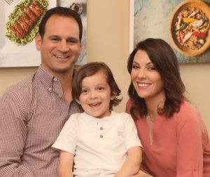 Tracy and Rob Povolny, and son, of Tampa's Eat Fresco