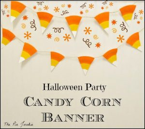 Halloween Party Candy Corn Banner