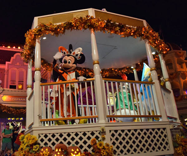Gazebo float in Mickey's Boo-to-You Parade