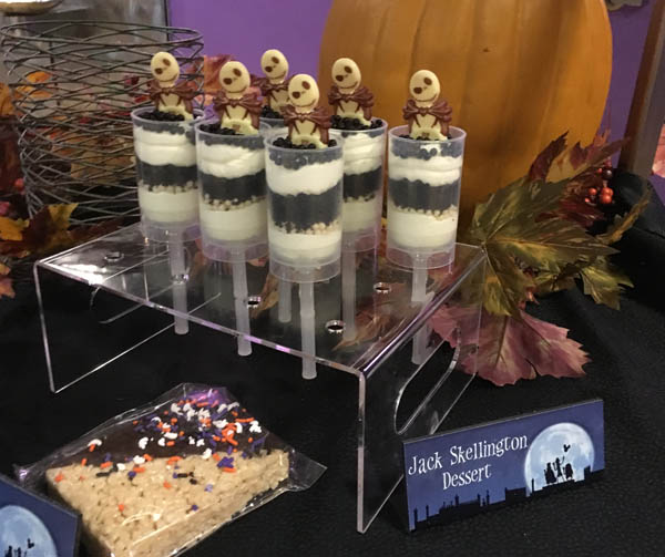 Jack Skellington push pops at the Happy HalloWishes Dessert Party