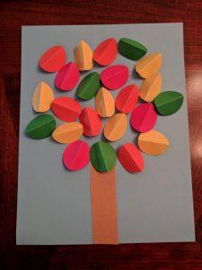 3D Fall Tree Craft