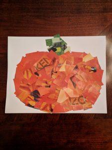 autumn pumpkin magazine collage
