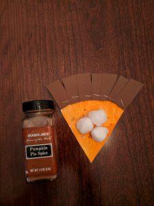 paper plate pumpkin pie slice
