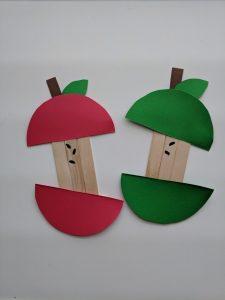 popsicle stick apple core