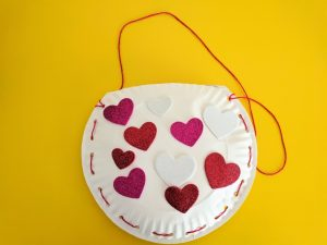Valentine's Day paper plate bag