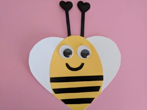 heart-shaped bee