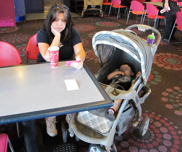 A reclining seat will help your baby nap in the stroller at Walt Disney World