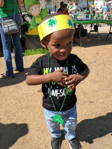 toddler celebrating St. Patrick's Day