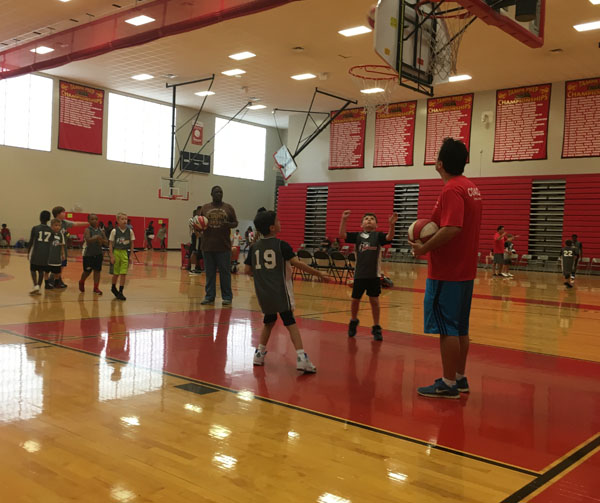 Youth basketball is our summer sport.