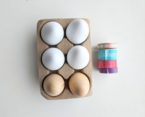 craft eggs and washi tape