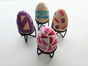 colorful washi tape Easter eggs