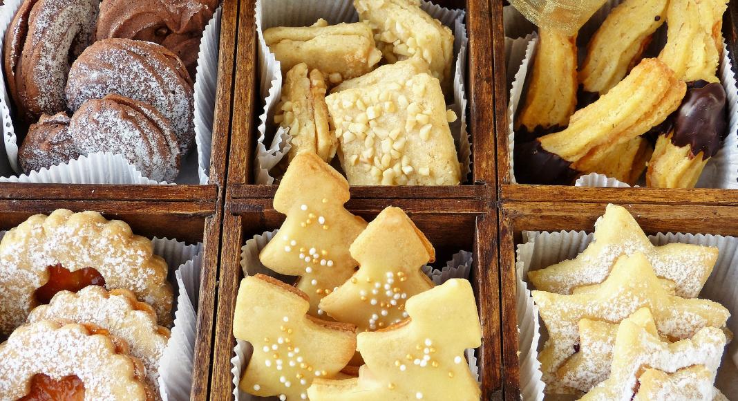 various gourmet cookies