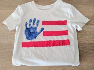 handprint american flag shirt