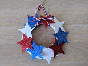 paper plate patriotic wreath