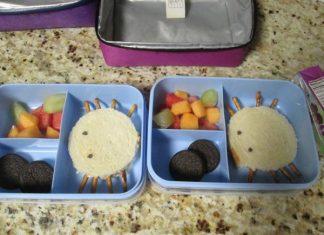halloween school packed lunch