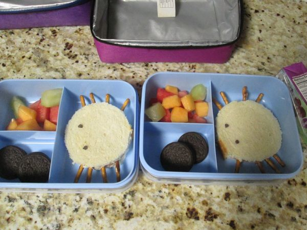 halloween school packed lunch