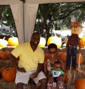family at fall festival
