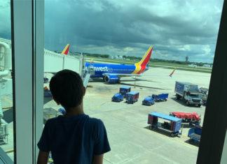 Watching planes at Tampa International Airport