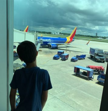 Watching planes at Tampa International Airport