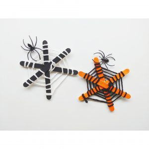 craft stick spider web craft