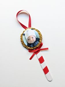 craft stick lollipop Christmas ornament