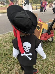 young black boy dressed as a pirate at the Tampa Gasparilla Parade