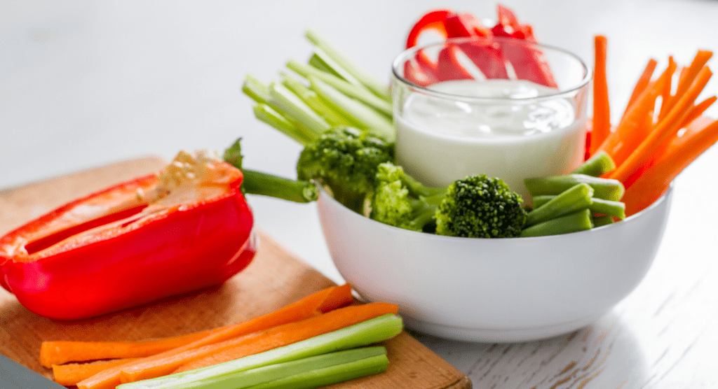 ranch dip with veggies