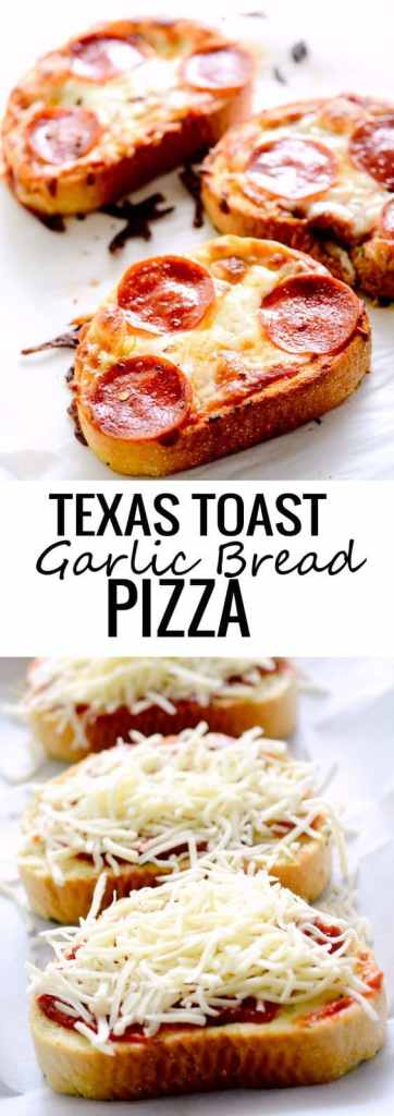texas toast garlic bread pizza