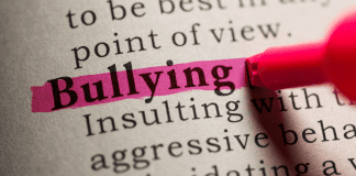 bullying highlighted text in dictionary