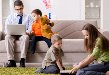 Working Parents with Kids Working