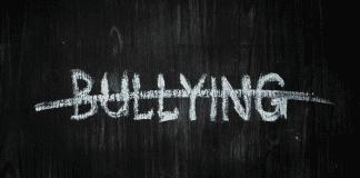 no bullying on chalkboard