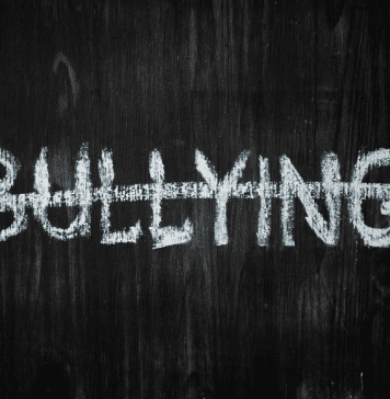 no bullying on chalkboard