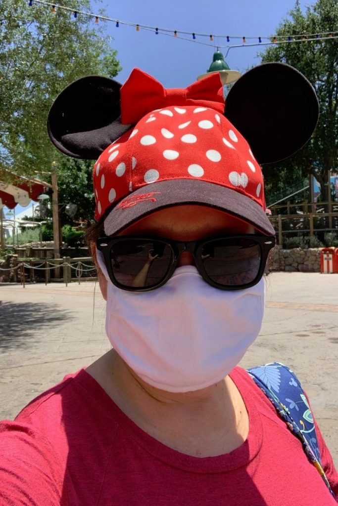 Wearing a mask at Walt Disney World
