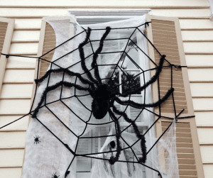 Decorated house for Halloween